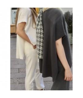 Damen Cashmere A-Shape Pullover mit Rundhals