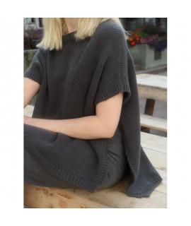 Cashmere turtleneck armless