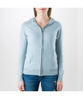 Cashmere Hoody with Zip