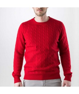 Mens Cashmere cardigan with cable knit