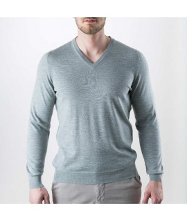 Men Basic Cashmere Crew Neck