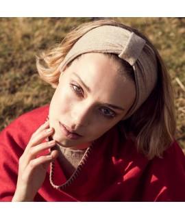 Cashmere headband ribbed